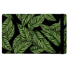 Tropical Leaves On Black Apple Ipad Pro 9 7   Flip Case