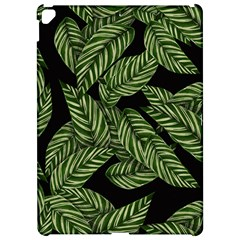 Tropical Leaves On Black Apple Ipad Pro 12 9   Hardshell Case