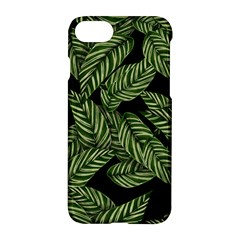 Tropical Leaves On Black Apple Iphone 7 Hardshell Case