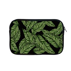 Tropical Leaves On Black Apple Macbook Pro 13  Zipper Case
