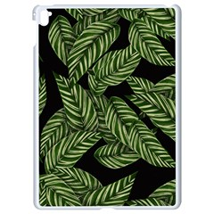 Tropical Leaves On Black Apple Ipad Pro 9 7   White Seamless Case by vintage2030