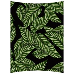 Tropical Leaves On Black Back Support Cushion