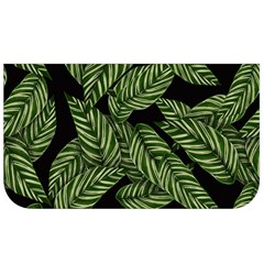 Tropical Leaves On Black Lunch Bag