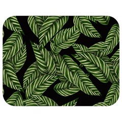 Tropical Leaves On Black Full Print Lunch Bag