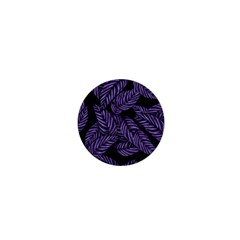 Tropical Leaves Purple 1  Mini Magnets