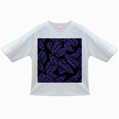 Tropical Leaves Purple Infant/toddler T Shirts