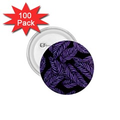 Tropical Leaves Purple 1 75  Buttons (100 Pack)