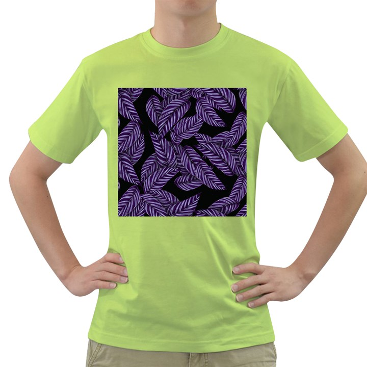Tropical Leaves Purple Green T-Shirt