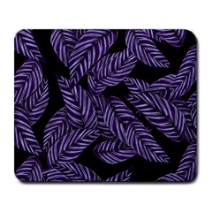 Tropical Leaves Purple Large Mousepads
