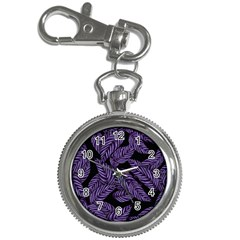 Tropical Leaves Purple Key Chain Watches