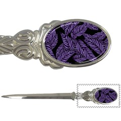 Tropical Leaves Purple Letter Opener