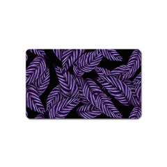 Tropical Leaves Purple Magnet (name Card)