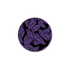 Tropical Leaves Purple Golf Ball Marker