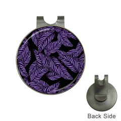Tropical Leaves Purple Hat Clips With Golf Markers