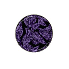 Tropical Leaves Purple Hat Clip Ball Marker (4 Pack)
