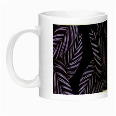 Tropical Leaves Purple Night Luminous Mugs