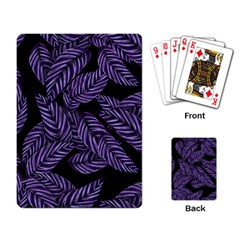 Tropical Leaves Purple Playing Cards Single Design
