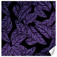 Tropical Leaves Purple Canvas 16  X 16