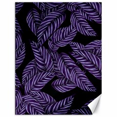 Tropical Leaves Purple Canvas 18  X 24