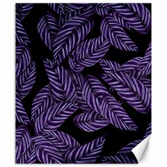 Tropical Leaves Purple Canvas 20  X 24