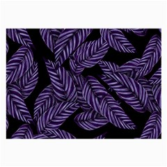 Tropical Leaves Purple Large Glasses Cloth