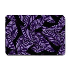 Tropical Leaves Purple Small Doormat