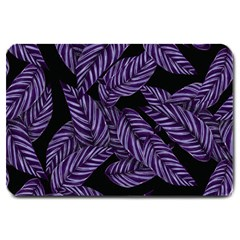 Tropical Leaves Purple Large Doormat