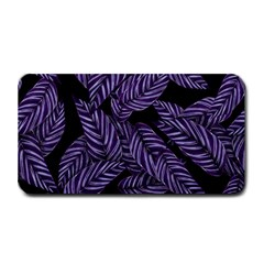 Tropical Leaves Purple Medium Bar Mats