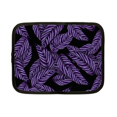 Tropical Leaves Purple Netbook Case (small)