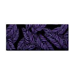 Tropical Leaves Purple Hand Towel