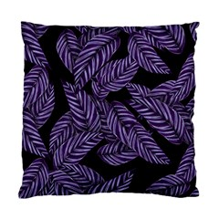 Tropical Leaves Purple Standard Cushion Case (two Sides)