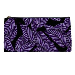 Tropical Leaves Purple Pencil Cases by vintage2030