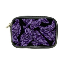 Tropical Leaves Purple Coin Purse