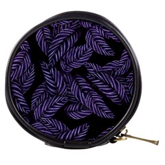 Tropical Leaves Purple Mini Makeup Bag