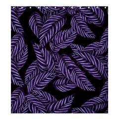 Tropical Leaves Purple Shower Curtain 66  X 72  (large)