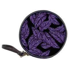 Tropical Leaves Purple Classic 20 Cd Wallets