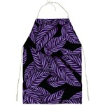 Tropical Leaves Purple Full Print Aprons Front