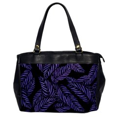 Tropical Leaves Purple Oversize Office Handbag