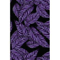 Tropical Leaves Purple 5 5  X 8 5  Notebook