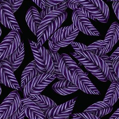 Tropical Leaves Purple Magic Photo Cube