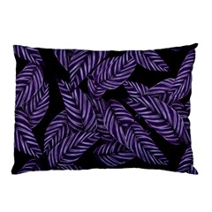 Tropical Leaves Purple Pillow Case (two Sides)