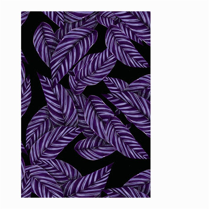 Tropical Leaves Purple Small Garden Flag (Two Sides)