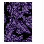 Tropical Leaves Purple Small Garden Flag (Two Sides) Back