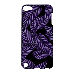 Tropical Leaves Purple Apple Ipod Touch 5 Hardshell Case