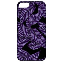 Tropical Leaves Purple Apple Iphone 5 Classic Hardshell Case