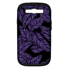 Tropical Leaves Purple Samsung Galaxy S Iii Hardshell Case (pc+silicone)
