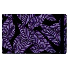 Tropical Leaves Purple Apple Ipad 2 Flip Case