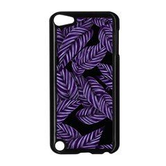 Tropical Leaves Purple Apple Ipod Touch 5 Case (black)