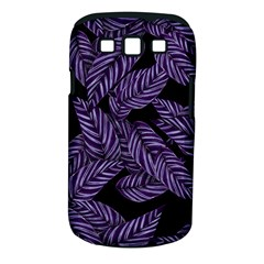 Tropical Leaves Purple Samsung Galaxy S Iii Classic Hardshell Case (pc+silicone)
