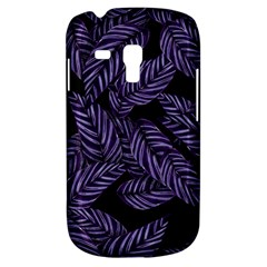 Tropical Leaves Purple Samsung Galaxy S3 Mini I8190 Hardshell Case